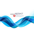 abstract background blue wavy vector image vector image