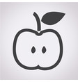 apple icon vector image vector image