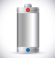 Battery energy design vector image vector image