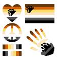 Bear Brotherhood pride design elements vector image vector image