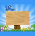 bluebird easter cartoon background vector image