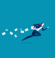 businessman hasty running concept business vector image vector image