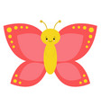 cartoon butterfly characters on a white background vector image vector image