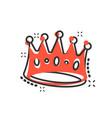 cartoon crown diadem icon in comic style royalty vector image vector image