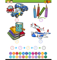 cartoon math task for kids vector image vector image
