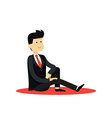 Character isolated business man in black costume vector image vector image