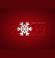 christmas background with 2019 and snowflake vector image