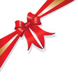 christmas gift ribbon vector image