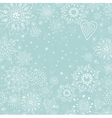 christmas invitation card with white snowflake vector image vector image