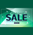 clearance sale banner with beautiful background vector image vector image