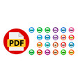Collection icons file format extensions