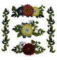 collection of gorgeous bouquets or bunches of red vector image vector image