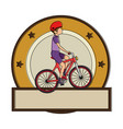 cycling man riding a bicycle elegant frame vector image vector image