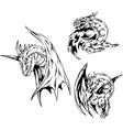 Dragon tattoos Set vector image vector image