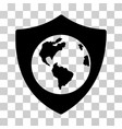 earth shield icon vector image vector image