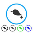 ecology rounded icon vector image vector image