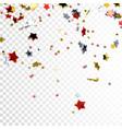 festive flying stars vector image vector image