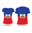 Flag shirt design of Haiti vector image vector image