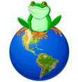 Frog Earth Day vector image
