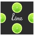 Funny of lime vector image vector image