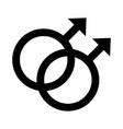 gay gender symbol sexual orientation line style vector image vector image
