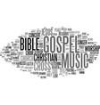 gospel word cloud concept vector image vector image
