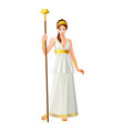greek gods and goddess hera vector image vector image