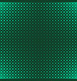 green geometric halftone dot pattern background vector image vector image