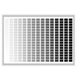 grey colors palette color shade chart vector image vector image