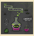 happy halloween card - pick your spooky poison vector image vector image