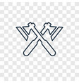hatchet concept linear icon isolated on vector image