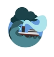 Havy Gale Sinking The Ship Natural Force Sticker vector image vector image