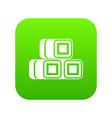 hay bundles icon digital green vector image