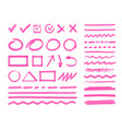 highlight marker design elements vector image vector image