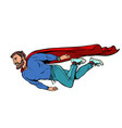 hipster bearded male superhero flies vector image vector image