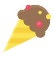 ice cream cone icon summer vacation related vector image vector image