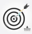 infographics business arrow design customer target vector image vector image