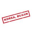 Korea Busan Rubber Stamp vector image vector image