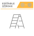 ladder line icon vector image