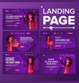 landing page set woman workflow vector image
