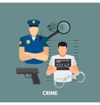 Law concept with crime vector image vector image