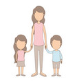 light color caricature faceless full body mother vector image vector image