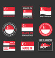 made in singapore labels set republic of vector image vector image