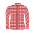 man shirt vector image vector image