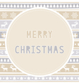 Merry Christmas greeting card39 vector image