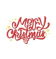 Merry Christmas lettering isolated on white vector image