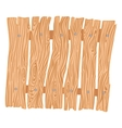 New wooden cartoon fence vector image vector image
