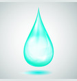 one big turquoise drop vector image vector image