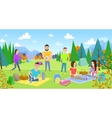 Picnicking happy lifestyle park together vector image