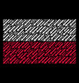 poland flag collage of sword icons vector image vector image